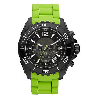 Michael Kors Mens Watch Green gumi szíj Sports MK8235