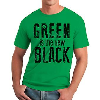Humor The New Black Men's Kelly Green Funny T-shirt