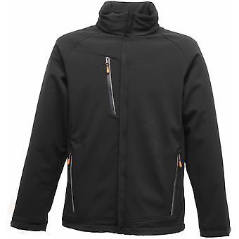 Regaty wodoodporna oddychająca kurtka Softshell męska Apex TRA670 czarny