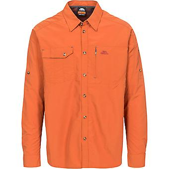 Trespass Mens Darnet Long Sleeve UV Protected Outdoor Walking Shirts