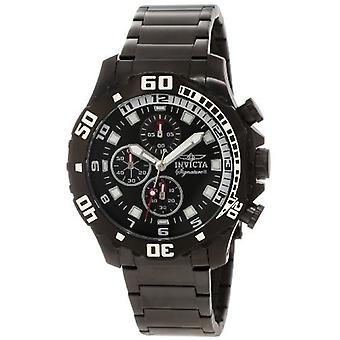 Invicta Men's Signature 7335 Black Stainless Steel Chronograph Watch