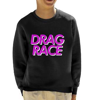 Vedä Race Pink Font lasten paita