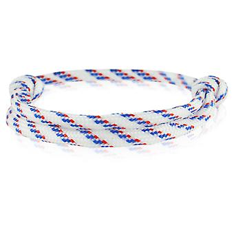 Capitão pulseira surfista banda nó maritimes pulseira nylon branco/azul/vermelho 6917