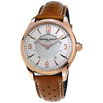 Frederique Constant Mens Horological Smartwatch Bluetooth Brown Leather Strap FC-282AS5B4 Watch
