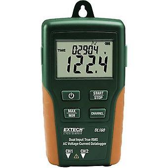 Registrador de dados multi-canal Extech DL160 unidade de medição de amperagem, tensão de 10 até 600 V AC 10 até 200 A