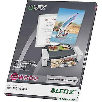 Leitz laminaatti arkki a3 125 mikronin kiiltävä 100 PC (s)