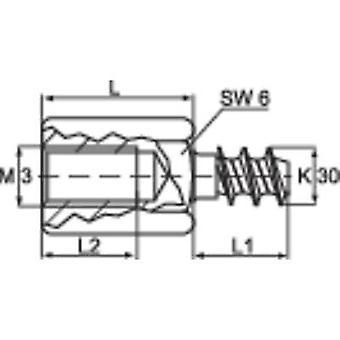 GEREEDSCHAPCRAFT 59006987 DIBLZ AK 30X7/IM3/8 spacer M3 M3 Brass 1 PC (s)