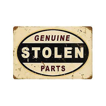 Metal oxidado originales robados firmar 460 Mm X 300 Mm