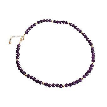 Gemshine-kvinder-halskæde-forgyldt-ametyst-facetteret-lilla
