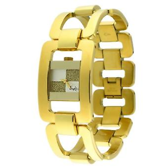 Saphir Ladies Watch Gold Tone Checkerboard Dial 210029N-7