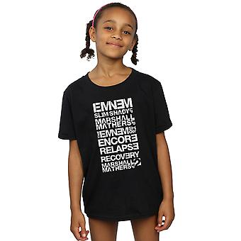 Eminem Mädchen Slim Shady Album Titel T-Shirt