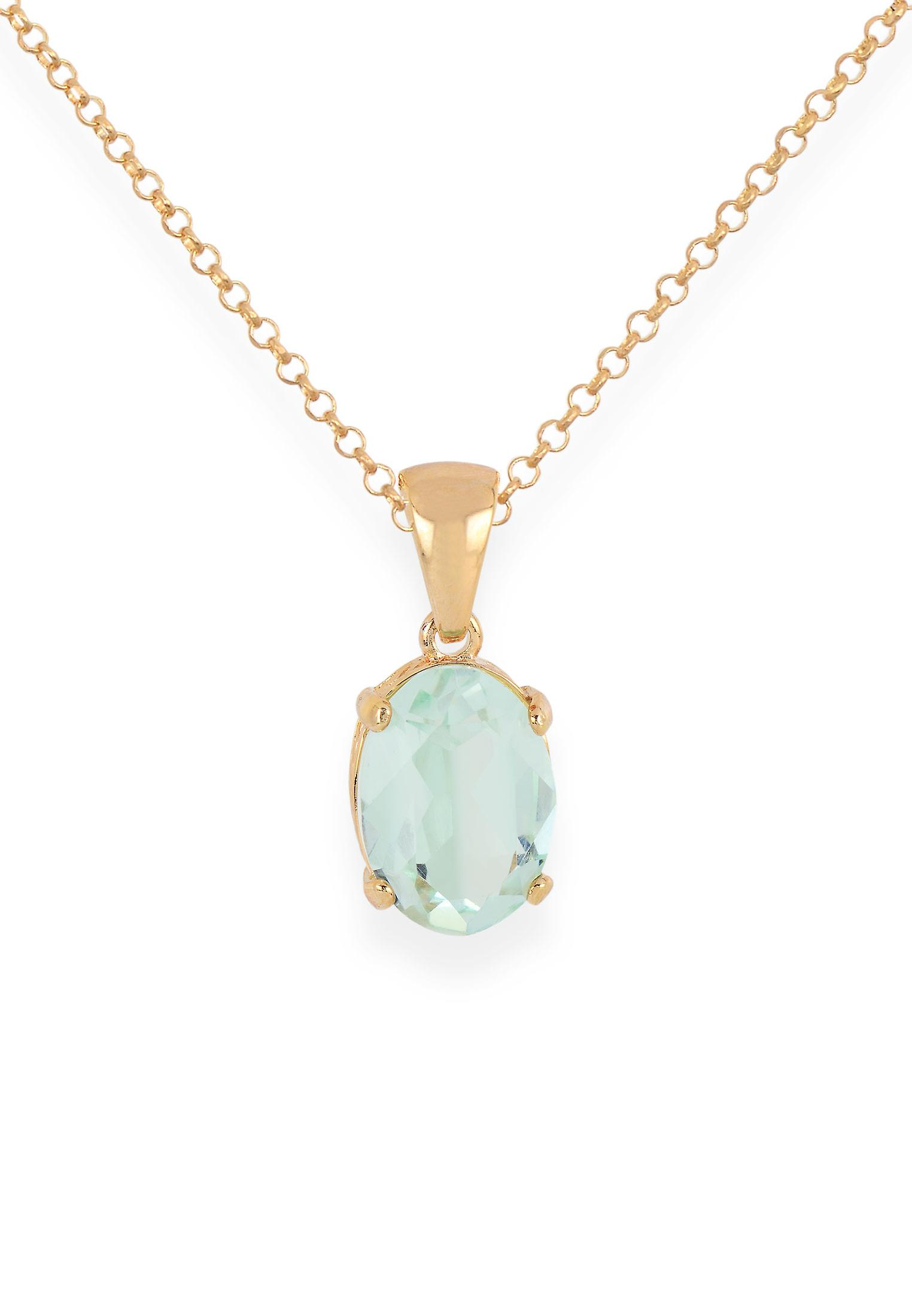Green pendant with crystals from Swarovski 9193