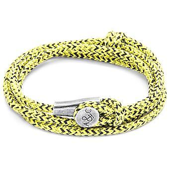 Якорь и экипажа Данди серебро и веревки браслет - желтый черный
