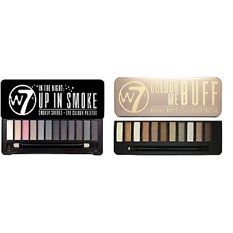 W7 Eyeshadow Palettes- (Colour Me Buff' + In the Night, Up in Smoke)