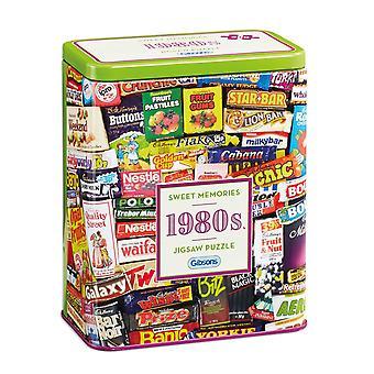 Gibsons jaren 1980 zoete herinneringen Jigsaw Puzzle in Gift Tin (500 stukjes)