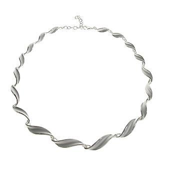 Cavendish franske Sterling sølv Swirled blad halskæde