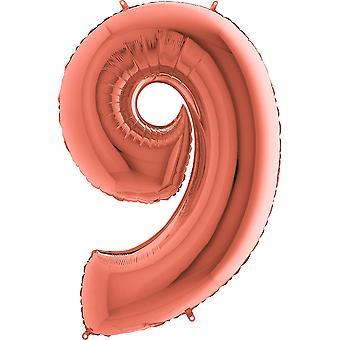 Nombre Ballons Rosé Gold Metallic 36 cm