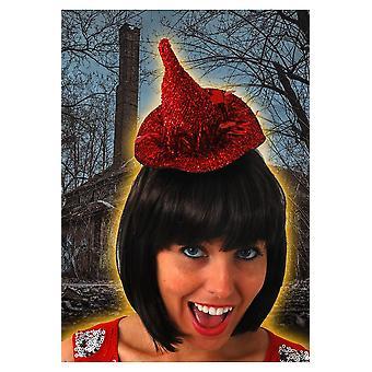Rojo de pelo accesorios pequeña bruja sombrero
