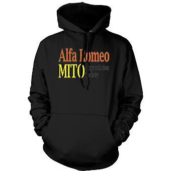 Mens Hoodie - Alfa Romeo Mito Appreciation Society