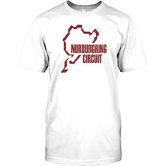 Nurburgring krets - tyska Race Track Mens T Shirt