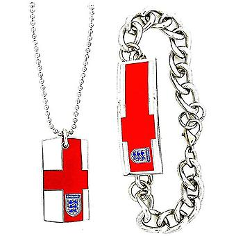 England Men's Metal Dog Tag Necklace 17