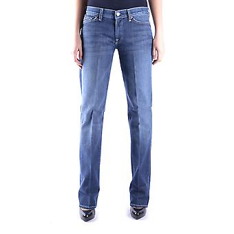 7 For All Mankind Ezbc110017 Dames's Blue Cotton Jeans