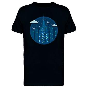 Nyc Building Flat Style Tee Men's -Image by Shutterstock