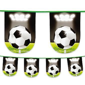Football Soccer Plastic Bunting 6m Long Childrens Boys Birthday Party Decoration