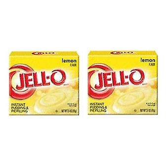 Jell-O citroen Instant pudding dessert Mix 2 box Pack