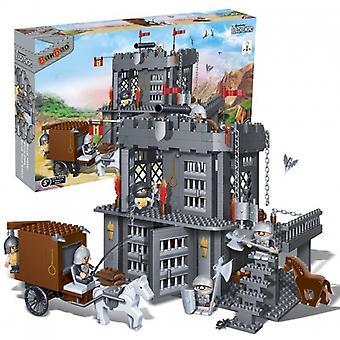 BanBao bloqueio blocos preto espada prisão situada (705 peças & 6 Minifiguras)