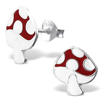 Sterling Silver Toadstool Stud Earrings