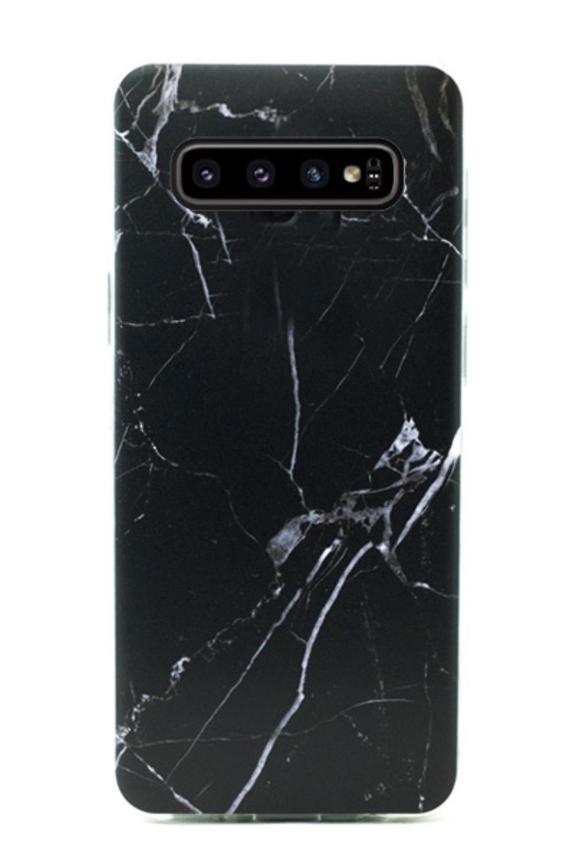 Samsung Galaxy S10 | Soft, Black Marblecase