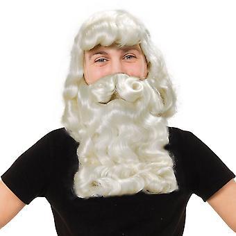 Bristol Novelty Mens Superior Father Xmas Wig & Beard