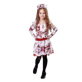 Bristol Novelty Girls Zombie Nurse Costume