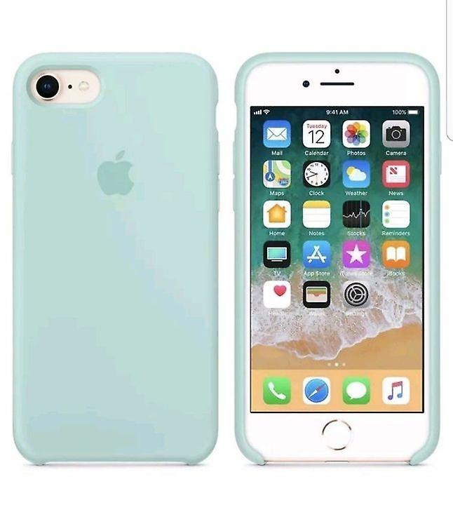 Original packaging Apple silicone Micro Fiber cover case for iPhone 8 / 7 - Navy Green