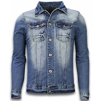Denim Jacket - Denim Jacket - Stonewashed Look - Blue