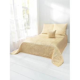 Heine home Satin day blanket bed cover with high/deep structure yellow washable approx. 140/210 cm