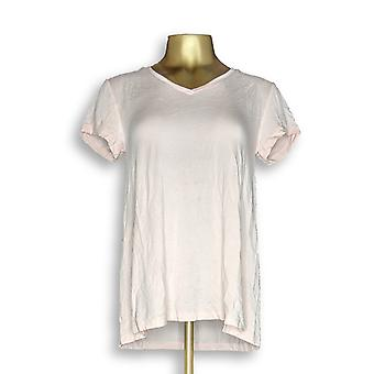 H par Halston Women-apos;s Top Essentials V-Neck Tee Pink A306231