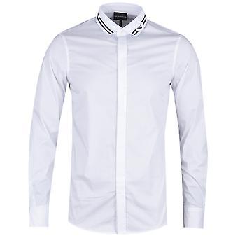 Emporio Armani Eagle listra branca Slim Fit shirt