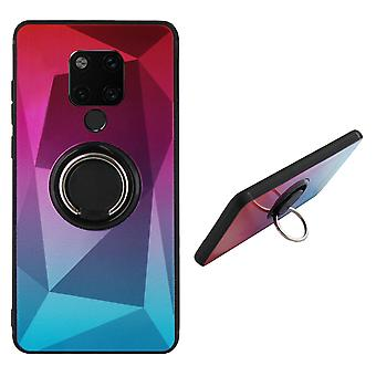Takakannen rengas/magneetti Aurora Huawei Mate 20 vaaleanpunainen + sininen