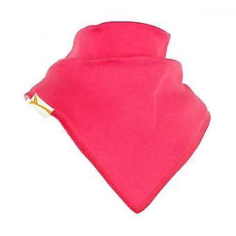 Bold pink plain bandana bib