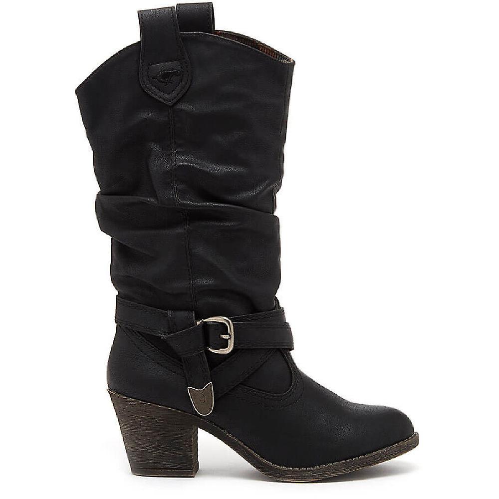 Rocket Dog Womens Sidestep Mid Chunky Heel Western Boots