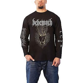 Behemoth تي شيرت LCFR صباح نجمة يرتفع شعار الرسمية الرجال الأسود طويل الأكمام