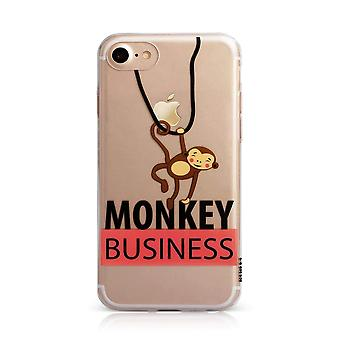 Printed Monkey Clear iPhone SE / 8 / 7 / 6 Case