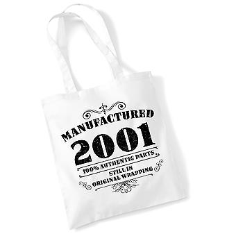 18th Birthday Tote Bag Manufactured 2001 Novelty Birthday Gifts