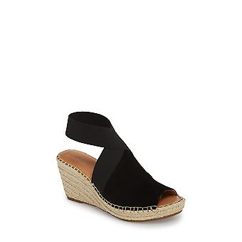 Gentle Souls Womens colleen Fabric Peep Toe Casual Platform Sandals