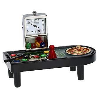 WM Widdop Miniature Novelty Collectors Monte Carlo Miniature Clock - Casino Gaming Table 9657a