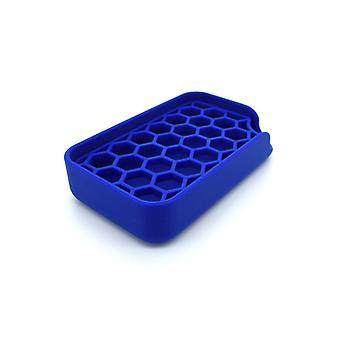 Soap holder with two parts removable washable blue