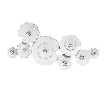 Angelic valkoinen metalli lilja pad seinäsisustus