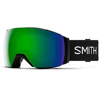 Smith I/O Mag XL Black - 9MK - Sun Green Mirror